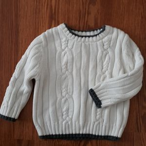 Cherokee cableknit sweater 2t